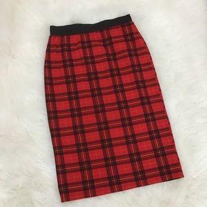 Dresses & Skirts - Plaid Pencil Skirt